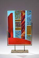 "Luminosity #2 by Varda Avnisan (Art Glass Sculpture) (21.25"" x 14.5"")"