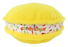 CANDYLICIOUS MACARON WITH SPRINKLES PLUSH YELLOW. Shop online at Candylicious! International shipping available. Kawaii | France |  Room Decor | Plush Toys | Candy