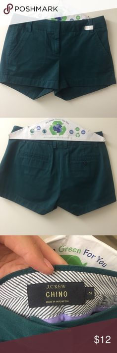 """J crew shorts Evergreen j crew chino shorts in perfect condition! 3"""" inseam. Perfect for fall and freshly dry-cleaned. No trades but feel free to make an offer J. Crew Shorts"""