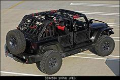 Safari straps JKU with body armor doors