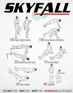 Skyfall Workout | Posted by: AdvancedWeightLossTips.com