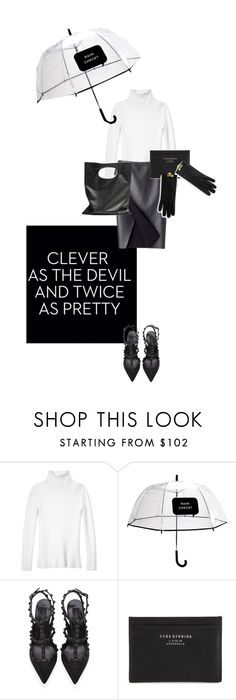 """""""Oh so clever - Monochrome"""" by natyleygam ❤ liked on Polyvore featuring Les Copains, Kate Spade, COSTUME NATIONAL, Valentino, Acne Studios, Cheap Monday and monochrome"""