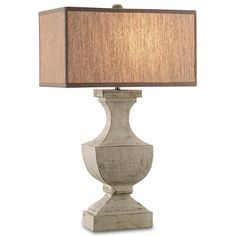 "Currey & Company Greta Table Lamp 30""H Shade: 17.5""/10"" x 17.5""/10"" x 9.5"" $458"