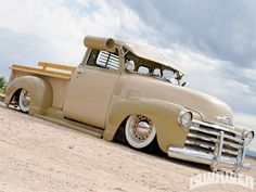 1949 Chevrolet 3100 Pickup 1947 Fleetline Side, Air Bags. Such a beautiful truck! Cream