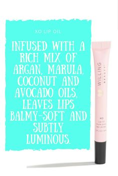 Add this lip oil to your lip care routine. XO Lio Oil is infused with a rich mix of argan, marula, coconut and avocado oils, this transparent gel-oil hybrid leaves lips balmy-soft and subtly luminous. As part of the Willing Hearts Project and our overall Force For Good movement, we are committed to giving $1 from each XO Lip Oil sold to benefit single mothers who are homeless, living in shelters or just struggling to make a difference in the lives of their families.