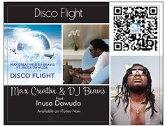 """Disco Flight"" hot dance single by Max Creative & Dj Beavis ft. Inusa Dawuda is a must get. You can grab this single on iTunes: https://itunes.apple.com/us/album/disco-flight-feat.-inusa-dawuda/id639056157  Beatport: http://www.beatport.com/label/kingdom-of-music/19196  and Amazon: http://www.amazon.com/Disco-Flight/dp/B00CK7KFOC"