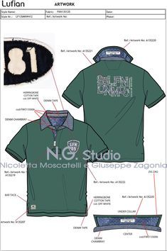 By N. by Nicoletta Moscatelli and Giuseppe M. Zagonia snc Source by modezeichnen Flat Drawings, Flat Sketches, Golf T Shirts, Polo Tees, Tech Pack, Corporate Uniforms, Surf Wear, Camisa Polo, Technical Drawing
