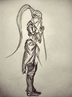comics girl sketch