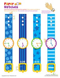 Not only do these play watches introduce kids to analog time, they also make great props for dress up.