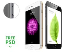 Dribbble - iPhone 6 - Scalable Mockups 3/4 by JustD