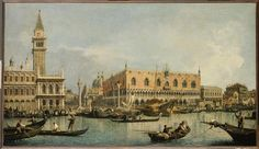 Giovanni Antonio Canal (Canaletto) The Molo and the Piazzetta San Marco, Venice c. 1730 Musée du Louvre, Paris, France Discover the coolest shows in New York at www. National Gallery Of Art, Art Gallery, James Mcneill Whistler, Grand Canal, Piazza San Marco, Le Mole, Francesco Guardi, Posters Vintage, Vintage Art