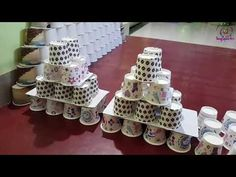 Ganpati Decoration with Paper Cup Eco Friendly Ganpati Decoration, Ganpati Decoration Design, Ganapati Decoration, Mount Board, Pooja Rooms, Diwali Decorations, Paper Crafts, Make It Yourself, Holiday Decor