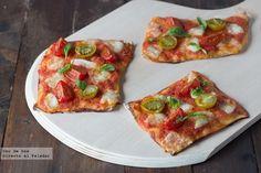 Receta de mini pizzas Caprese