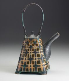 """Peter Karner pottery, """"I work with stoneware. My pots are thrown, thrown and… Pottery Teapots, Teapots And Cups, Ceramic Teapots, Ceramic Pottery, Ceramic Art, Tea Art, Chocolate Pots, Oeuvre D'art, Chinoiserie"""