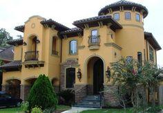 Bellaire Showcase Home - mediterranean - exterior - houston - by Jeffrey Harrington Homes
