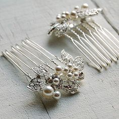 Set Of Two Leaf Cluster Hair Combs http://www.notonthehighstreet.com/highlandangel/product/leaf-cluster-hair-comb-set-of-two