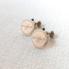 New to my Etsy shop. 🔸Beautiful solid bronze 'eight' cufflinks. 🔸The perfect wedding anniversary gift for him. Bronze Anniversary Gifts, 8th Wedding Anniversary Gift, Personalized Anniversary Gifts, Anniversary Gifts For Him, Bronze Gifts, Copper Gifts, Bracelets For Men, Cufflinks, Pure Products