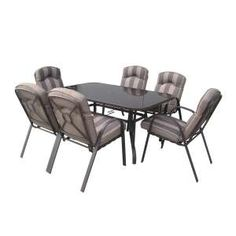 Richmond 7 Piece Patio Set with Cushions Outdoor Furniture Sets, Outdoor Decor, Diy Supplies, Garden Projects, Outdoor Living, Cushions, Patio, Table, Gardening