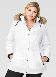 c61aef2d2316e Drawstring Waist Puffer Coat Drawstring Waist Puffer Coat Plus Size Winter