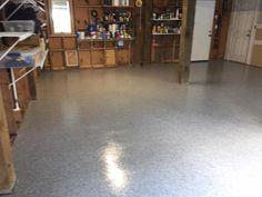 Decorative and Durable Epoxy Flake Garage Floor in Wilmington, North Carolina.