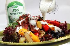 Koperek jest źródłem olejku eterycznego, który pobudza trawienie, poprawia wydzielanie soków żołądkowych, w jelitach hamuje rozwój szkodliwych drobnoustrojów. Ponadto zawiera beta-karoten i witaminę C. Można go dodawać do zup, serów, ryb, ziemniaków, również w postaci sosu koperkowego.                                                   Sos koperkowy 420 g