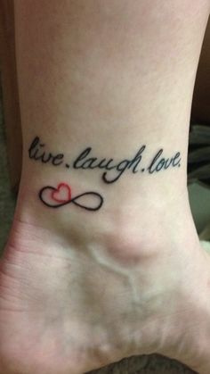 Live, Laugh, Love tattoo
