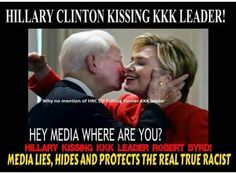 And they think she isn't racist. Robert KKK. Byrd was her mentor....racist bitch!