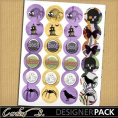 Digital Scrapbooking Kits   Fright Night 12 Stickers-(carolnb)   Boys, Friends, Girls, Holidays - Halloween, Kid Fun, Seasons   MyMemories