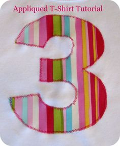 appliqued t-shirt tutorial...Gillian's first birthday! ...maybe