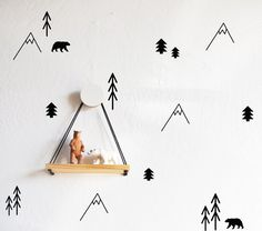 Forest Compilation - WALL DECALS #child-wall-art #forest-wall-art #kids-room-decor