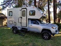 2016 Toyota Tacoma Motorhome Bend Oregon - YouTube Small Truck Camper, Slide In Camper, Off Road Camper Trailer, Diy Camper, Camper Trailers, Travel Trailers, Toyota Tacoma Camper Shell, Toyota Tacoma 4x4, Tacoma Truck