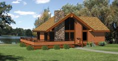 House Plan 94307 | Cabin Vacation Plan with 786 Sq. Ft., 2 Bedrooms, 2 Bathrooms at family home plans