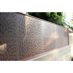 OUTDECO in. x 24 in. x 48 in. Cumulus Modular Hardwood Composite Decorative Fence - The Home Depot Diy Backyard Fence, Diy Fence, Patio, Fence Ideas, Privacy Panels, Privacy Fences, Fencing, Bamboo Fence, Wooden Fence