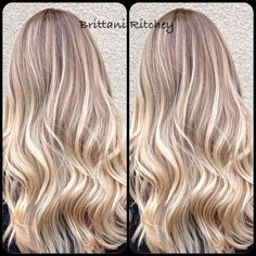 Blonde highlights, with warm lowlites