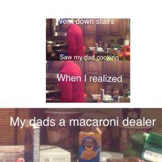 Don't do macaroni, kids. #venturiantale
