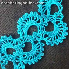 Sea shells crochet stitches