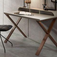 Schreibtisch Modernes Design In Hellgrau Oder Weiß Holz Jupiter. Space  FurnitureOffice SpacesHome ...