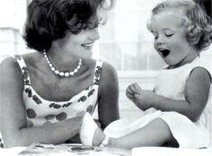 Jackie Kennedy with Caroline 60s