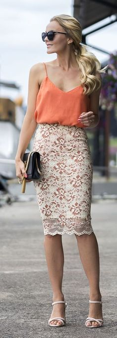 Long white lace skirt for Summer top. Perfect skirt with tops.