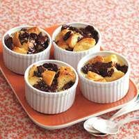 Dark Chocolate-Cherry Biscuit Bread Pudding. I've never met a bread pudding I didn't like.
