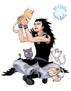 Gajeel picking out a cat AAAAAAAAAHHHHHHHHHHHHH!!!!!!!!!!!!!!!!!!! He's so cute when he realizes he's the only Dragon Slayer without a flying, talking cat!!!!!
