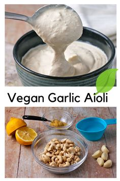Make easy vegan garlic aioli (oil-free) with 5-ingredients and learn our foolproof way to prep cashews for the dreamiest, creamiest, and most irresistible homemade aioli sauce ever! Vegan Aioli Recipe, Garlic Aioli Recipe, Vegan Foods, Vegan Recipes, Homemade Aioli, Aioli Sauce, Vegan Mayonnaise, Plant Based Breakfast, Plant Based Eating