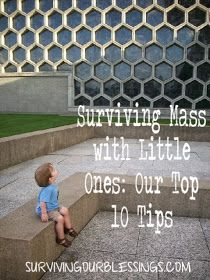 . tips for surviving mass with littles