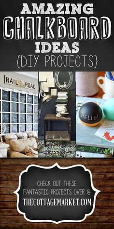 Amazing Chalkboard Ideas {DIY Projects} - My favorite is the chair. Doing a wall would be fun for the kids too