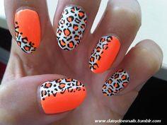 Orange and leopard print.. LOVE!