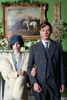 Felicity Jones as Dolly Thatcham and James Norton as Owen in Cheerful Weather for the Wedding (2012).