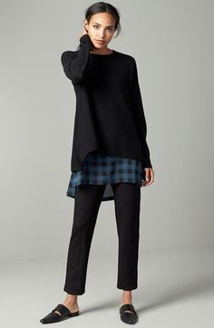Eileen Fisher Sweater, Tunic & Pants Outfit with Accessories available at #Nordstrom