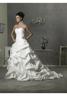 Slim A-Line/Princess Sweetheart Taffeta wedding dress with Chapel Train (DDA10181) [A20125703224] - $206.00 : Zen Cart!, The Art of E-commerce