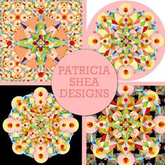 #patternpatisserie: How many different designs can you make from one motif? #PatriciaSheaDesigns