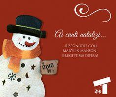 Sentite già echi di voci stridule che infestano l'aria con canti natalizi? Non soccombete! Rispondete con l'artiglieria musicale pesante.  #natale #cinismo #canti #cantidinatale #sarcasmo #umorismo #ironia #pupazzodineve #meme #consigli #christmas #christmastime